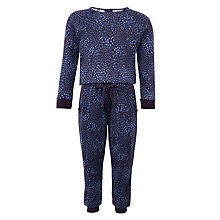 Buy Kin by John Lewis Girls' Long Sleeve Print Jumpsuit, Blue Online at johnlewis.com