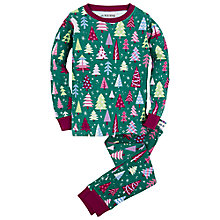 Buy Hatley Children's Christmas Trees Pyjamas, Green Multi Online at johnlewis.com