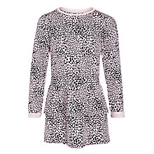 Buy Kin by John Lewis Girls' Long Sleeve Tiered Sweat Dress, Pink/Black Online at johnlewis.com