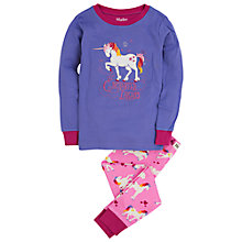 Buy Hatley Girls' Unicorn Pyjamas, Purple Online at johnlewis.com