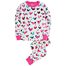 Buy Hatley Girls' Hens & Chicks Pyjamas, Cream Online at johnlewis.com
