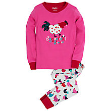 Buy Hatley Girls' Hens and Chicks Pyjamas, Pink Online at johnlewis.com