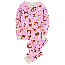 Buy Hatley Girls' Soft Deer Pyjamas, Cream Online at johnlewis.com