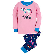 Buy Hatley Girls' Wild At Heart Horse Pyjamas, Pink Online at johnlewis.com