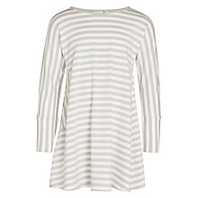 Buy Kin by John Lewis Girls' Long Sleeve Stripe Dress, Grey Online at johnlewis.com