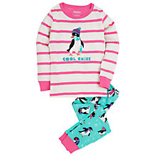 Buy Hatley Girls' Cool Penguin Pyjama Set, Cream/Multi Online at johnlewis.com