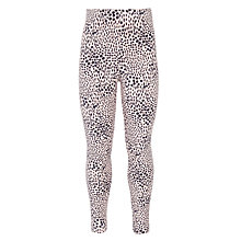 Buy Kin by John Lewis Girls' Printed Leggings, Pink/Black Online at johnlewis.com