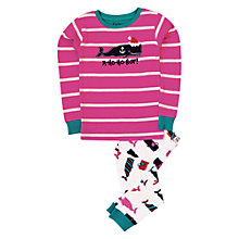 Buy Hatley Girl's Whale Pyjamas, Pink/Multi Online at johnlewis.com