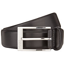 Buy HUGO C-Estonio Leather Belt, Black Online at johnlewis.com