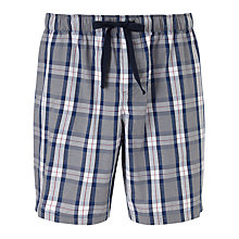 Buy John Lewis Alli Check Lounge Shorts, Grey/Blue Online at johnlewis.com