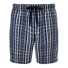 Buy John Lewis Andrew Check Lounge Shorts, Blue/Black Online at johnlewis.com