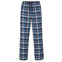 Buy John Lewis Brushed Check Cotton Martin Pyjama Bottoms, Blue Online at johnlewis.com