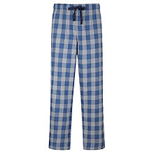 Buy John Lewis John Brushed Cotton Check Pyjama Bottoms, Blue/Grey Online at johnlewis.com