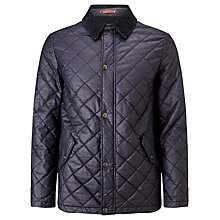 Buy JOHN LEWIS & Co. Waxed Cotton Quilted Jacket, Dark Navy Online at johnlewis.com