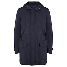 Buy JOHN LEWIS & Co. 2-in-1 Laundered Cotton Parka Jacket, Dark Navy Online at johnlewis.com