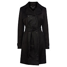 Buy Karen Millen Soft Unlined Belted Trench Coat, Black Online at johnlewis.com