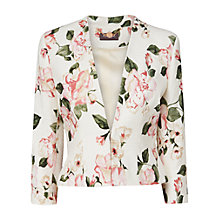 Buy Phase Eight Gracie Tapework Jacket, Champagne Online at johnlewis.com