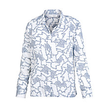 Buy Fat Face Farley Climb Clover Shirt, White Online at johnlewis.com