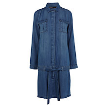 Buy Karen Millen Soft Denim Shirt Dress, Dark Blue Online at johnlewis.com