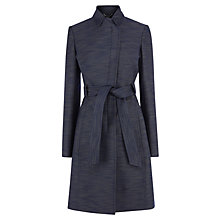 Buy Karen Millen Tailored Denim Effect Trench Coat, Blue Online at johnlewis.com