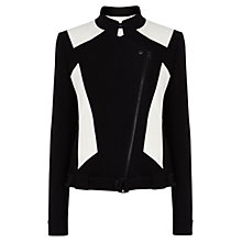 Buy Karen Millen Colour Block Jacket, Black Online at johnlewis.com