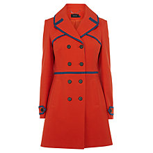 Buy Karen Millen Textured Cotton Coat, Red Online at johnlewis.com