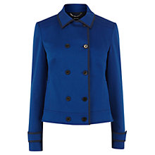 Buy Karen Millen Contrast Tipped Jacket, Blue Online at johnlewis.com
