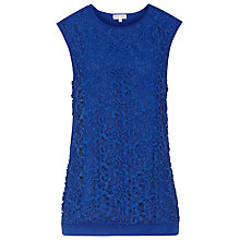 Buy Reiss Octavia Lace Top, Serpentine Online at johnlewis.com