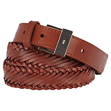 Buy Karen Millen Woven Leather Belt Online at johnlewis.com