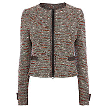 Buy Karen Millen Neon Tweed Jacket, Multi Online at johnlewis.com