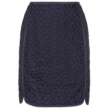 Buy Reiss Nagomi Lace Skirt, Night Navy Online at johnlewis.com