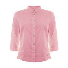 Buy Mint Velvet Candy Fluted Shirt, Pink Online at johnlewis.com