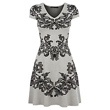 Buy Karen Millen Jacquard Knit Dress, Grey Multi Online at johnlewis.com