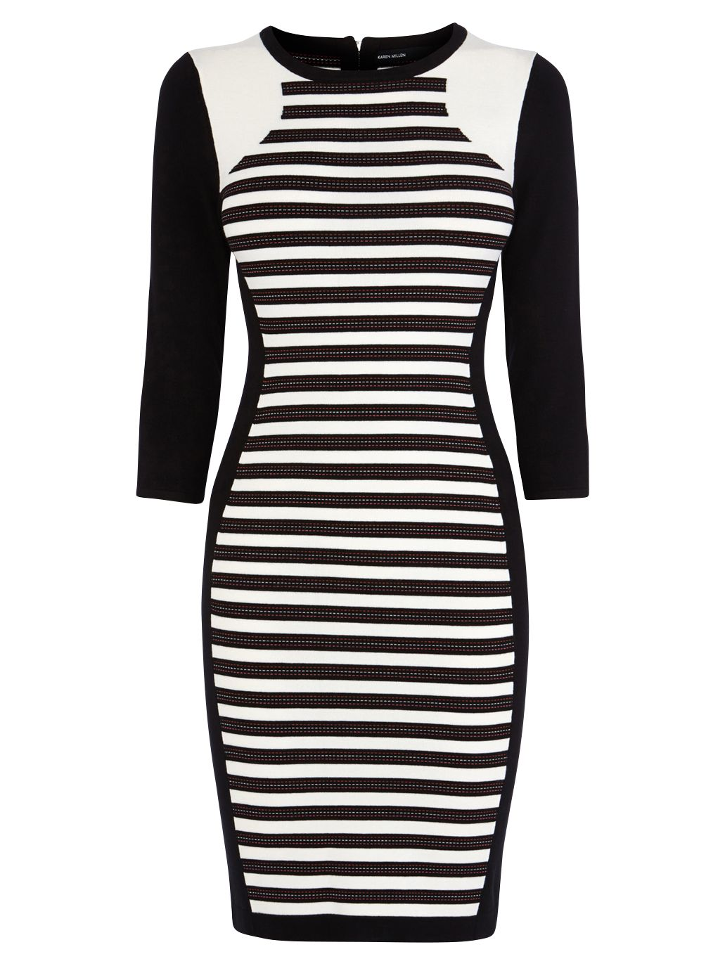 karen millen stripe knitted dress black/white, karen, millen, stripe, knitted, dress, black/white, karen millen, 4 3 2 1, women, womens dresses, womens holiday shop, city break, 1893399