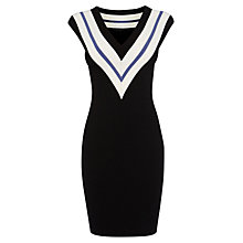Buy Karen Millen Sporty Knit Dress, Dark Blue Online at johnlewis.com