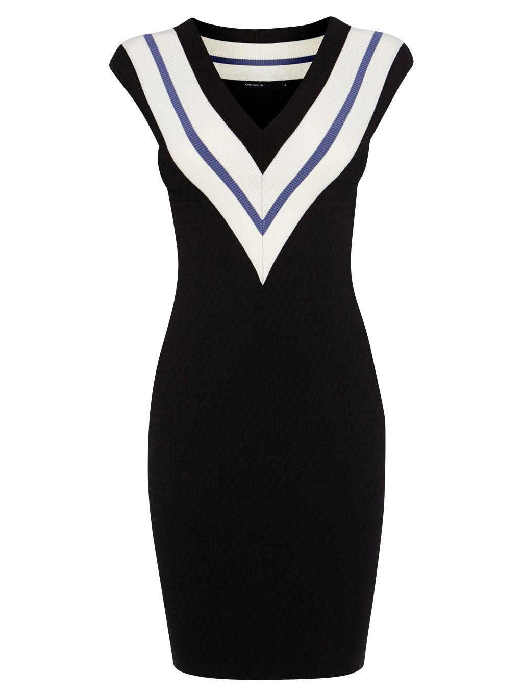 karen millen sporty knit dress dark blue, karen, millen, sporty, knit, dress, dark, blue, karen millen, 16|6-8|12-14|10, women, womens dresses, 1896125