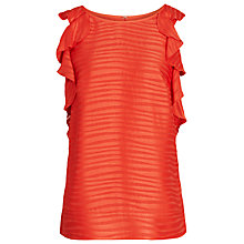 Buy Reiss Ebony Burnout Top, Pomegranate Online at johnlewis.com