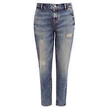Buy Karen Millen Skinny Boyfriend Vintage Wash Jeans, Denim Online at johnlewis.com