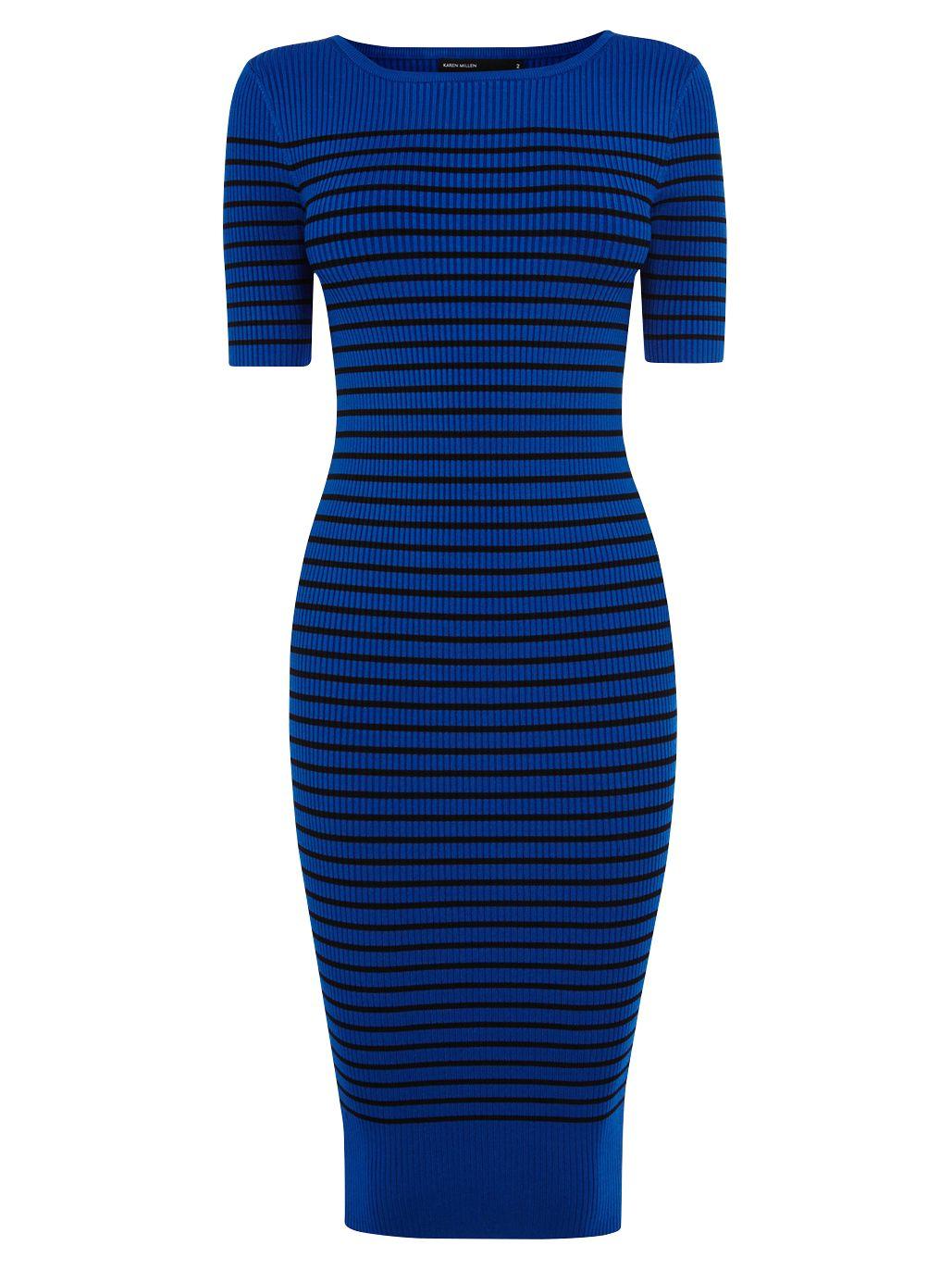 karen millen stripe rib knit dress blue, karen, millen, stripe, rib, knit, dress, blue, karen millen, 1|3|4|2, women, womens dresses, 1893596