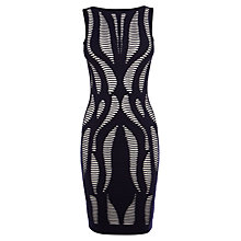 Buy Karen Millen Geo Texture Knit Dress, Multi Online at johnlewis.com
