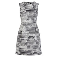 Buy Karen Millen Tailored Dot Dress, Black/White Online at johnlewis.com