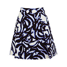 Buy Karen Millen Graphic Floral Skirt, Blue Multi Online at johnlewis.com