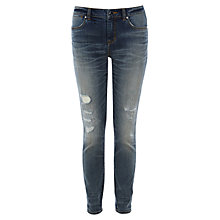 Buy Karen Millen Ripped And Frayed Skinny Jeans, Denim Online at johnlewis.com