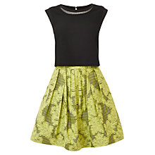 Buy Karen Millen Stripe Brocade Dress, Lime Online at johnlewis.com