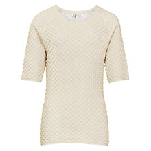 Buy Reiss Anisa Knit Top, Gold Shimmer Online at johnlewis.com