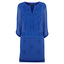 Buy Karen Millen Graphic Embroidery Dress, Blue Online at johnlewis.com