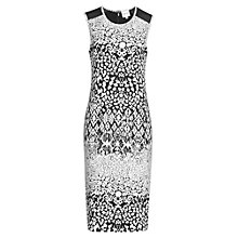 Buy Reiss Berta Jacquard Dress, Black/White Online at johnlewis.com