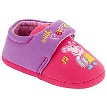 Buy Make Music with Peppa Slippers, Purple/Pink Online at johnlewis.com