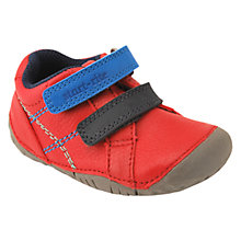 Buy Start-rite Baby Milan Leather Double Strap Shoes, Red/Black Online at johnlewis.com