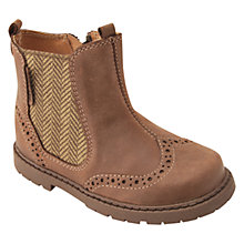 Buy Start-Rite Digby Leather Brogue Boots, Brown Online at johnlewis.com